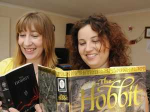 Fantasy fans Anita and Lorilee excited about The Hobbit