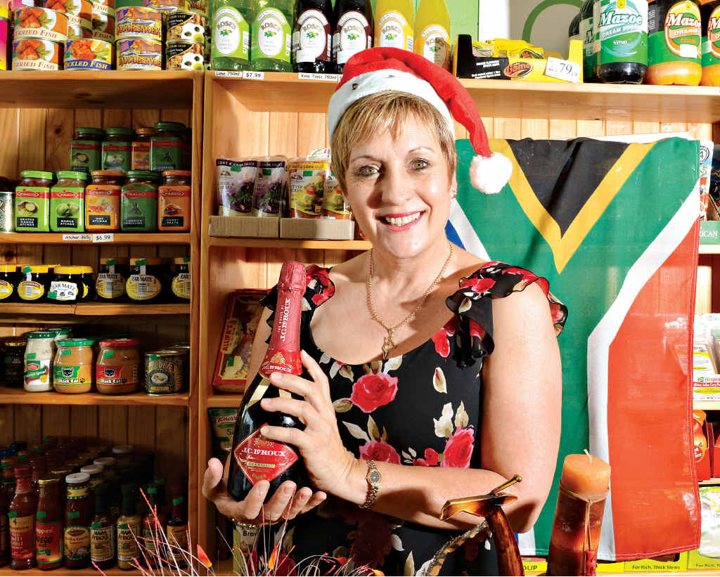 South African-born Mariane Eloff is looking forward to Christmas.