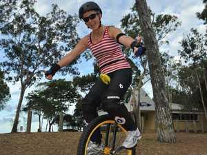 Janita's municycle is a wheelie fun ride
