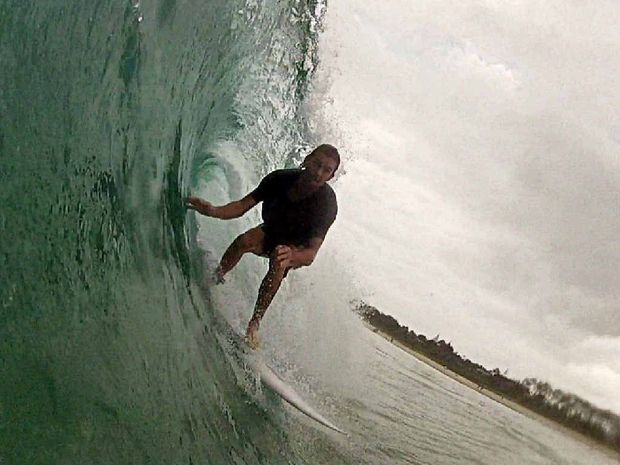 Surf watcher Elliott Creagh said there were some good pits and barrels over the weekend in Byron Bay, with surfers getting stuck into the festive Christmas spirit.