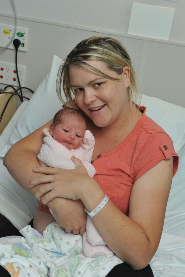 Maryborough's Melanie Milzewski and Dan Moes have welcomed their firstborn, daughter Imogen Charlotte, December 18 weighing 7lb 9oz (3620g).