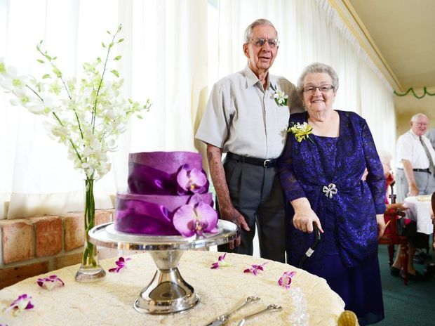 Kenneth and Elaine Beutel celebrate their 60th wedding anniversary.