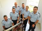 NEW FACES: Superintendent Rowan Bond with the new constables at the Bundaberg Police Station. Recent graduates Ben Carroll, Dale Cook, James Robinson, Amy Keeble and Daniel McWhinney.