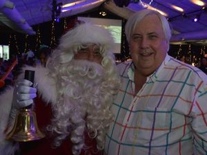 Clive says he's the 'real Santa' at lunch for 700 people