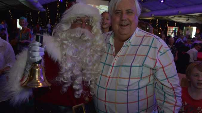 Clive Palmer put on an elaborate smorgasbord for the needy for Christmas 2013.