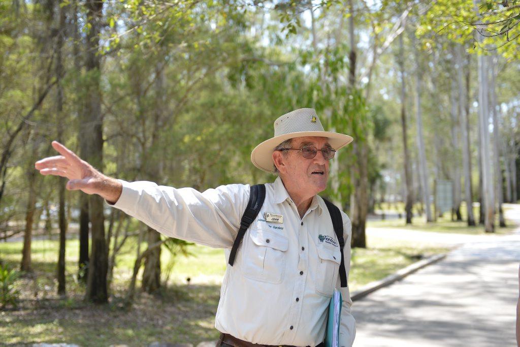 Tour guide John Fraser.