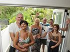 Cumbrian couple (front) Bobby Melton and Sandra Kelly will wed in Toowoomba. Some of their family including (back from left) Mary Falcon and her husband Gordon Falcon, Darren Askew and Chelsea Fisher will attend the wedding.