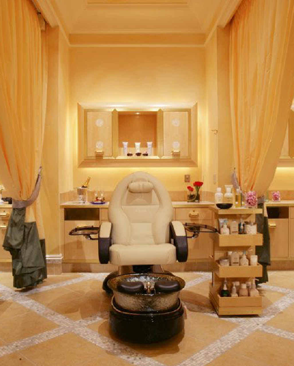 The deluxe pedicre rooms at Spa Bellagio.