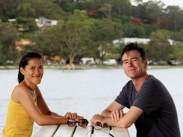 Mari Beth Rabano and Brian Greenfield are comfortable with their bodies Photo: Blainey Woodham / Daily News