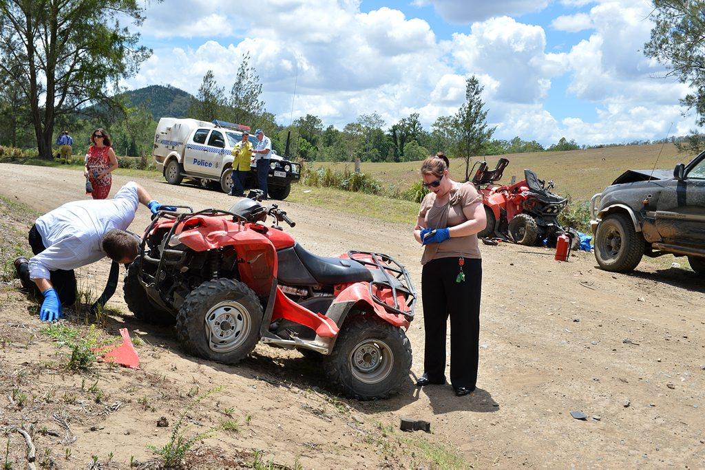 Quad bike fatal on Amamoor Creek Road Amamoor.