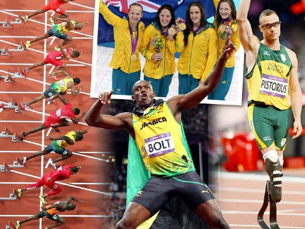 "Australia's gold medal winners in the women's 100m freestyle relay, Oscar ""Blade Runner"" Pistorius and Jamaican sprinter Usain Bolt all made a big impact at the London Olympics."