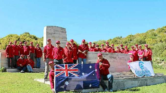 The 2012 Gallipoli Volunteer team at Shrapnel Valley Cemetery. A life changing experience is available for those who answer a call from Conservation Volunteers to assist with Anzac Day commemorations in Gallipoli next year.