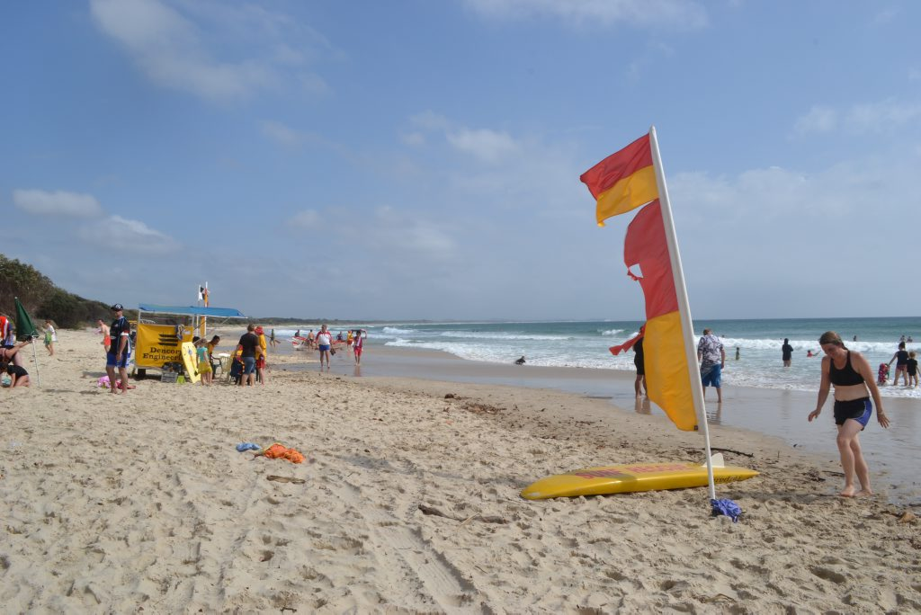 SURF SAFETY: Life savers are pleading with holiday-makers to swim between the flags. It saves lives. Photo: Samantha Elley / Rivertown Times