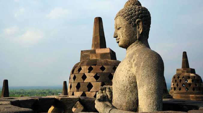 Borobudur in Java, Indonesia is the largest Buddhist structure anywhere in the world, covering 85 hectares.