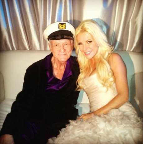Hugh Hefner and Crystal Harris on their wedding day.