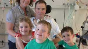 The Alexander family (back) Kylie and her husband Garry with their children Hayley, Tom, Brendan. Garry has motor neurone disease. His friends and family have launched an appeal so he can spend his final days at home, surrounded by his family. December 2012. Contributed