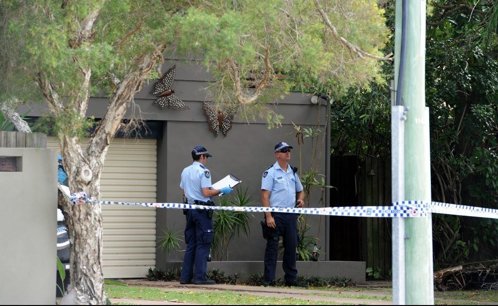 Police the site of an alleged stabbing in the early hours of New Year's Day.