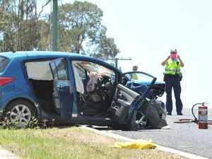 Two-vehicle crash at Hatton Vale