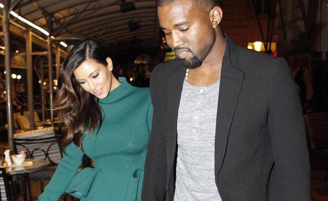 Kim Kardashian and Kanye West in Rome.