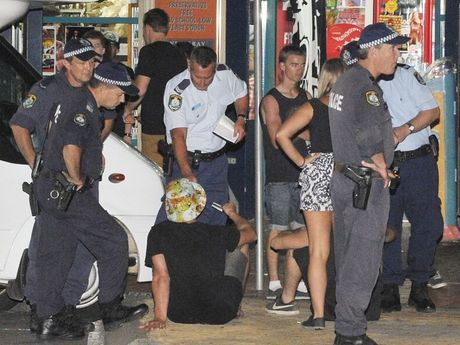 Police on NYE in Byron Bay 2012 Photo Mireille Merlet-Shaw / The Northern Star