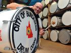 BANGING THE DRUM: City of Bundaberg Drum Corps band master Trevor Ballantyne is stoked about the Anzac Day reuinion march. Photo: Max Fleet / NewsMail