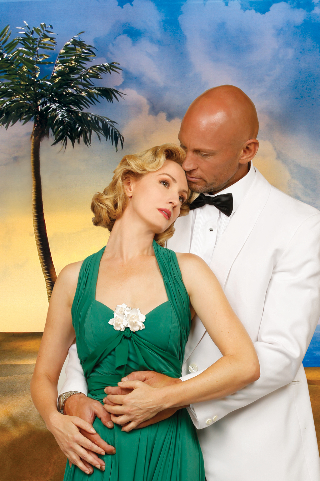 Teddy Tahu Rhodes and Lisa McCune star in South Pacific.
