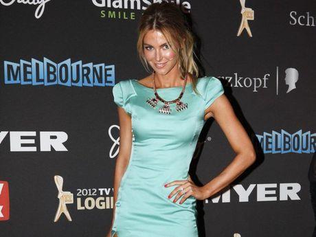 Australian model Jennifer Hawkins arrives for the Logies.