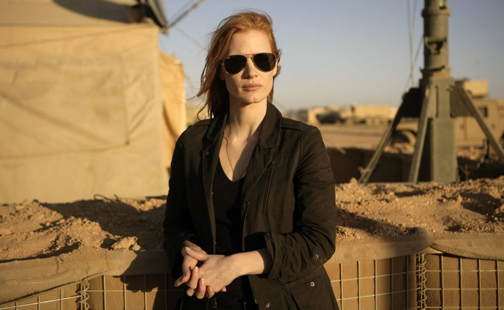 Jessica Chastain in a scene from the movie Zero Dark Thirty.
