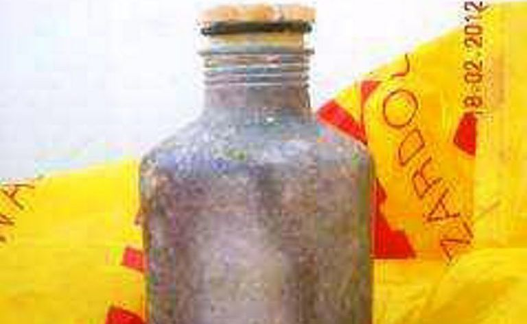 Toxic canisters containing aluminium phosphide.