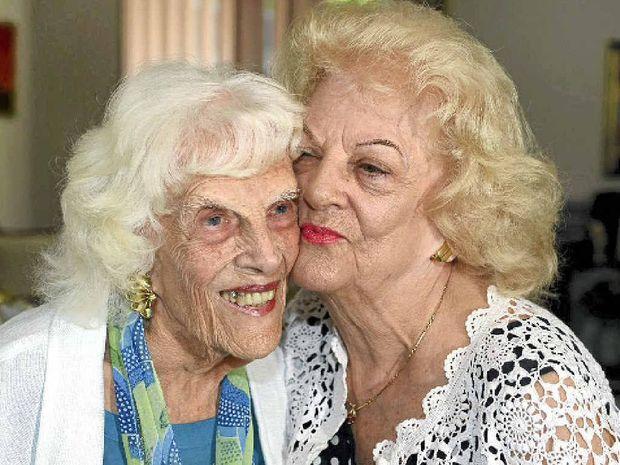 GREAT EXPERIENCE: Sylvia Adams with Doris 'Dodo' Hall back at home.
