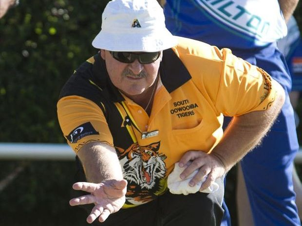 Tony Petrohilos in action for South Toowoomba Tigers on Saturday.