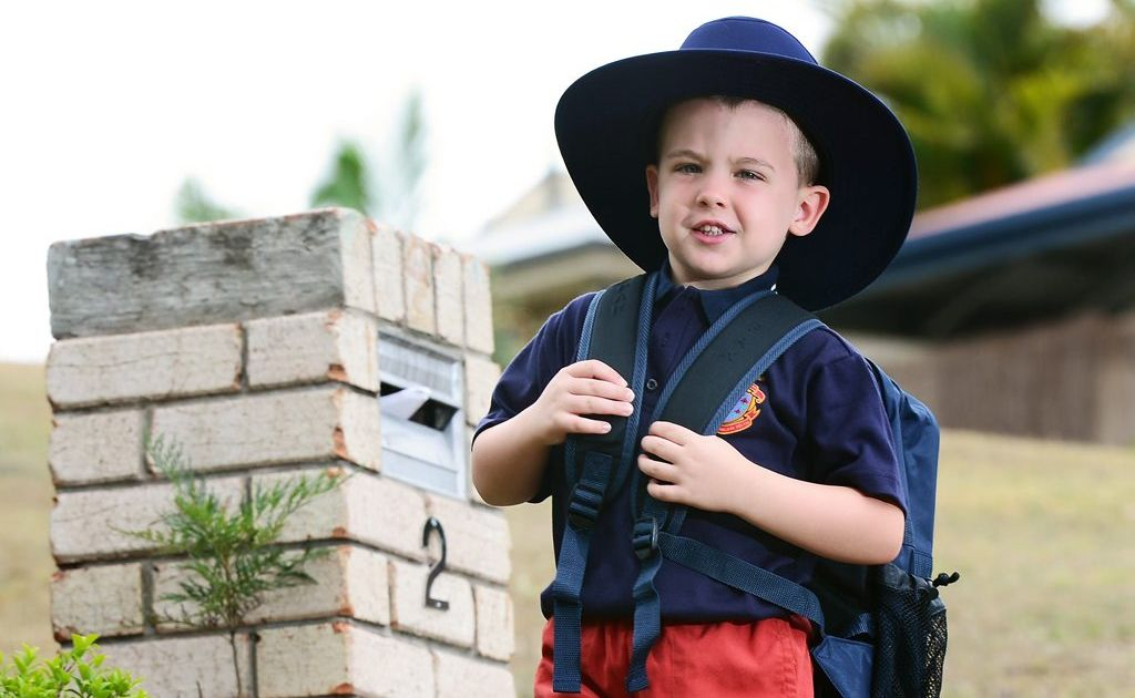 Four-year-old Koen Smith is starting prep this year at West Moreton Anglican College. Photo: David Nielsen / The Queensland Times