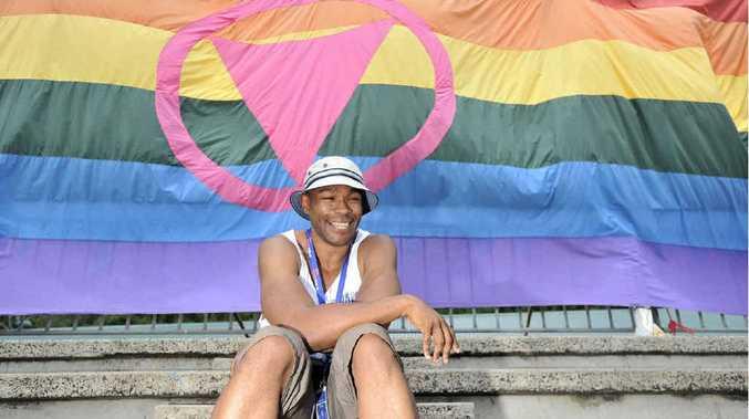 Hikaru Freeman of Joy 94.5 FM in Melbourne broadcasting live from Tropical Fruits.