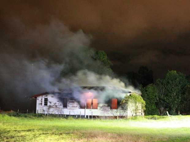 Firefighters respond to a vacant hall on fire at 10.45pm.