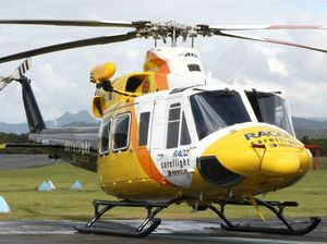 Man airlifted after car and cow collide