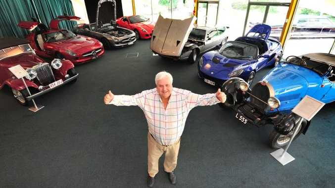 Clive Palmer pictured with a selction of his automobile collection at the Palmer Motorama, Palmer Coolum Resort. Photo: Iain Curry / Sunshine Coast Daily