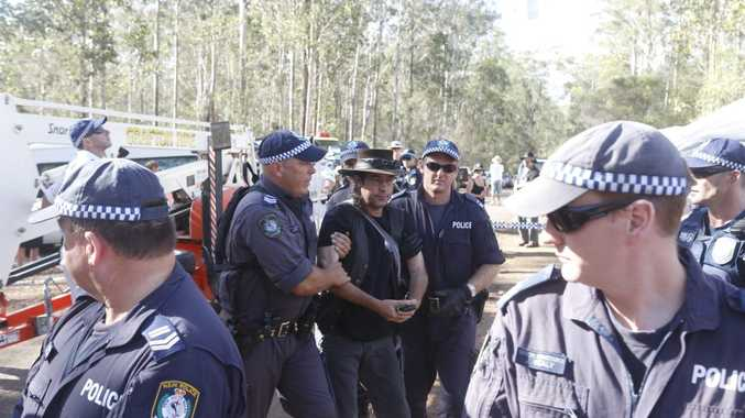 Officers from the Sydney-based Public Order and Riot Squad have been criticised by anti-csg protestors for heavy-handed tactics.