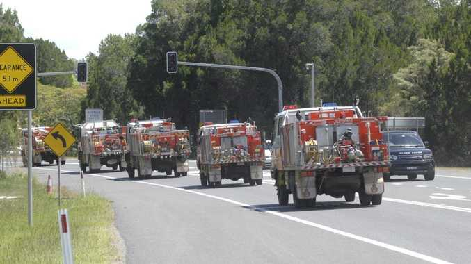 Rural Fire Fighters travel down the coast to assist with severe fire conditions in NSW and Victoria. Photo Marc Stapelberg / The Northern Star