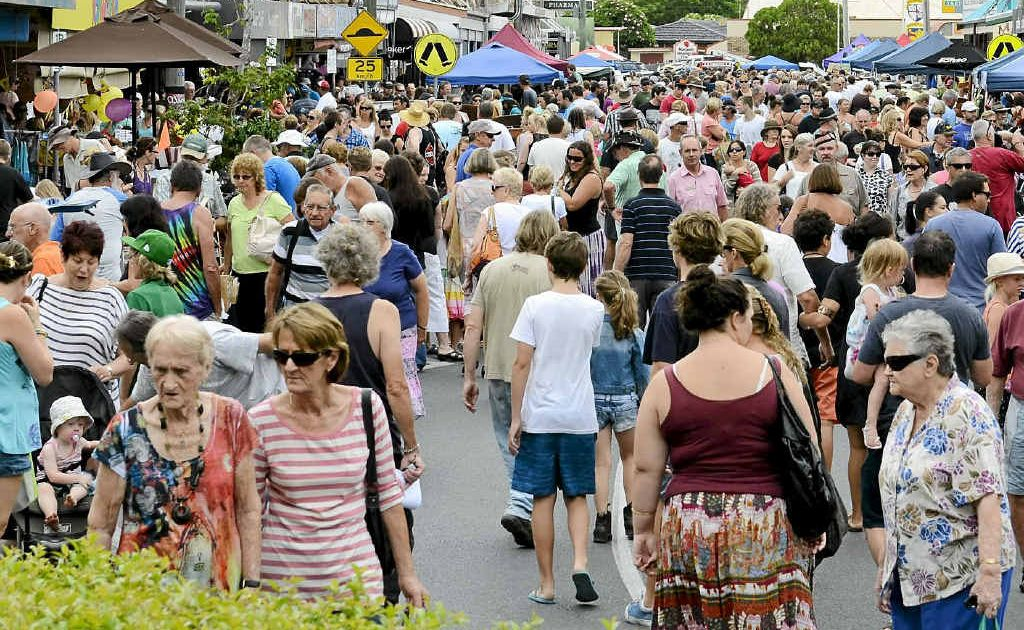 A large crowd of locals and visitors turned out for Maclean's inaugural Macmarket Day on Saturday morning.