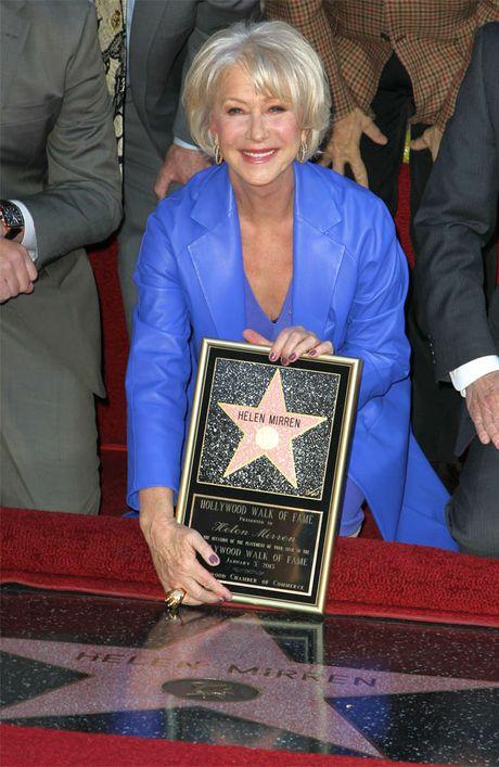 Dame Helen Mirren gets her star.