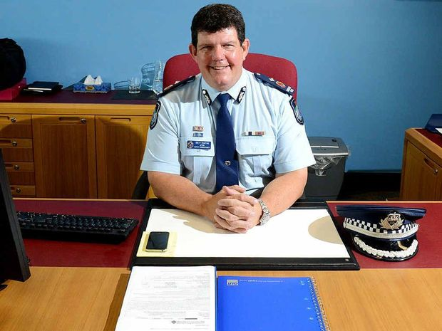 LONG ROAD: Deputy Commissioner Brett Pointing started in the police force in Ipswich in 1981.