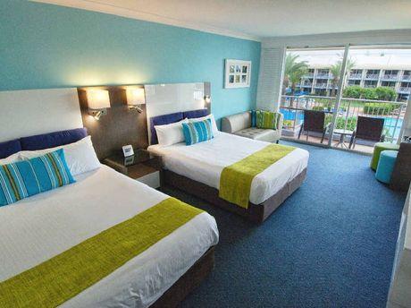 A family room at Sea World Resort.