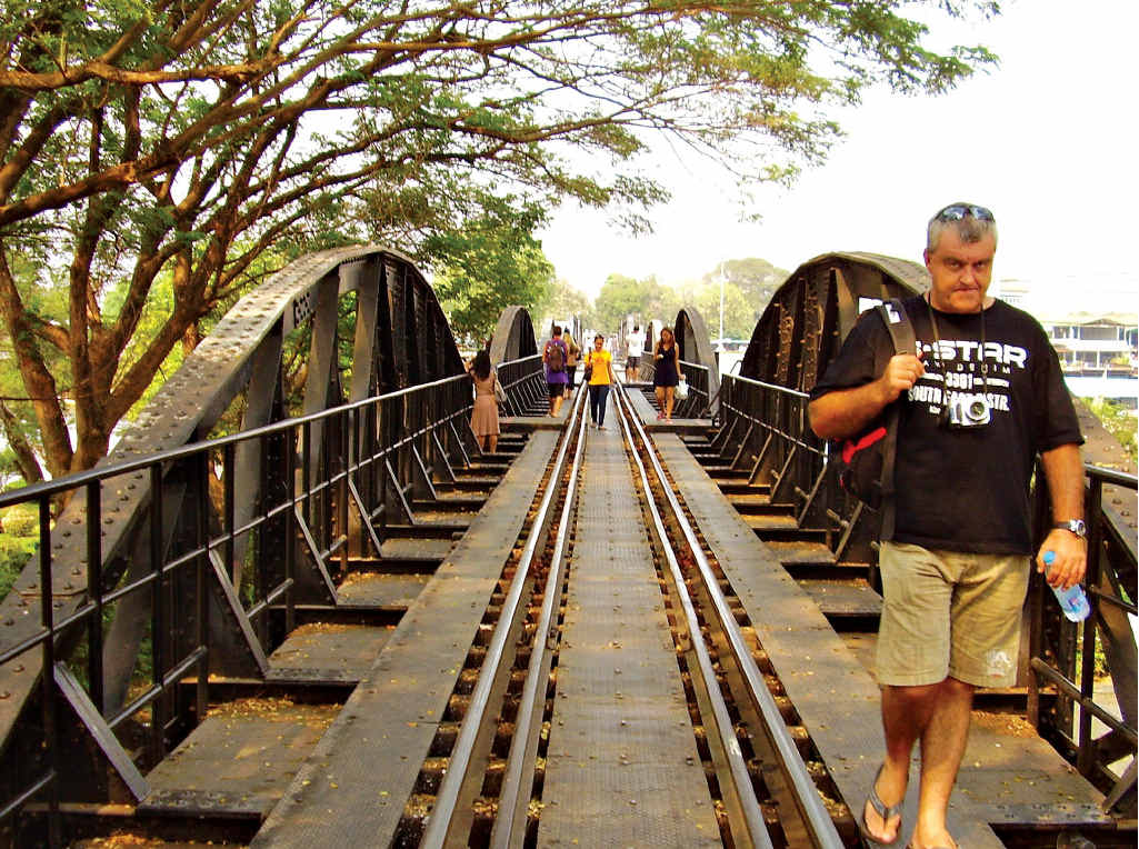 West of Bangkok is the infamous Bridge over the River Kwai.