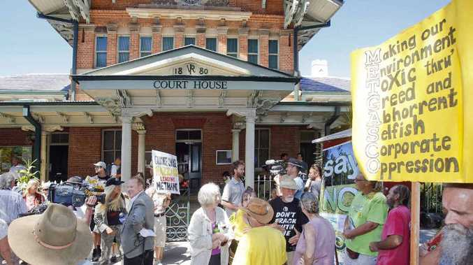 Protestors at Grafton Local Court recently supporting anti-CSG activists arrested during the Glenugie blockade south of Grafton.