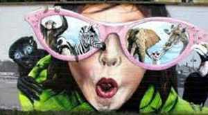 Work of graffiti artists Jumbo, Zap and Bafcat