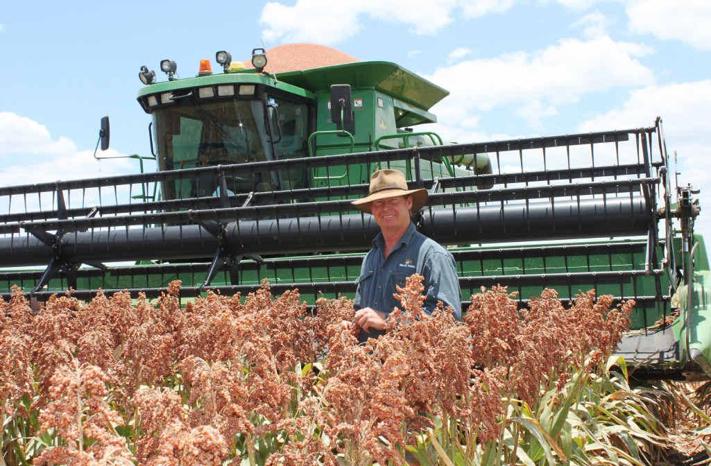 RAIN DANCE: Emerald's Dougall Millar is one of many Emerald farmers hoping for rain.