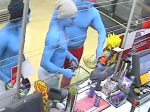 Police search for Smurfs over alleged assault