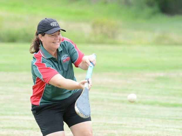 Kerryn Graham in action for the Ipswich vigoro team in Mackay.