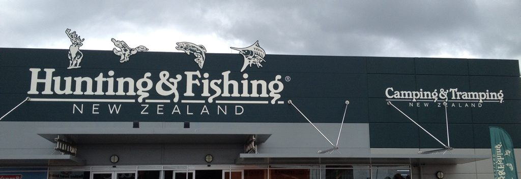 GONE FISHIN': Hunting and Fishing plus Camping and Tramping store.