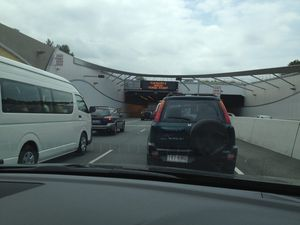 Lane closures causing delays in Tugun tunnel